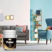 Pintura Viniltex Blanco 5 Galones Paredes/Muros Interiores y Exteriores
