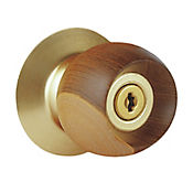 Cerradura Alcoba Madera Dorada Bell Wood