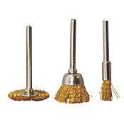 Set 3 piezas mini cepillos bronce cir y copa 804