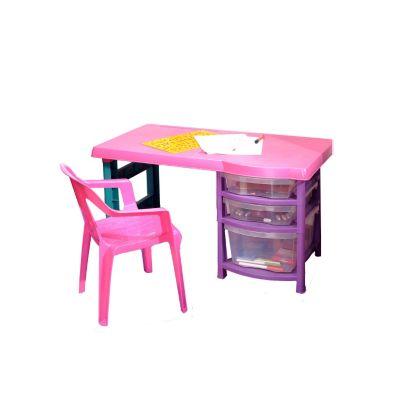 Mesa plastica kiddy 51 2x71 2x71 2cm azu - Mesa escritorio infantil ...