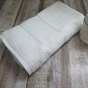 Toalla bano punto de cruz 65 x 120 cm 400 gramos blanca