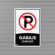 Senal Garaje Prohibido Parquear 22x15cm