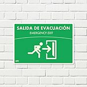 Senal Salida Evacuación Derecha Fotoluminiscente 22x15cm
