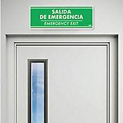 Senal Salida Fotoluminiscente 30x11cm