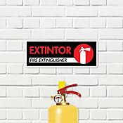 Senal Extintor es de Incendio 30x11cm