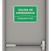 Senal Salida de Emergencia 35x24cm