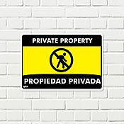 Senal Propiedad Privada Prohibido Ingreso 35x24cm