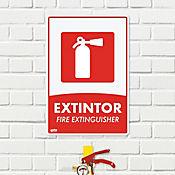 Senal Extintor 35x24cm