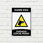 Senal Cuidado con Perro 35x24cm