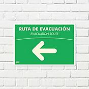 Senal Ruta Evacuación Izquierda Fotolumin. 35x24cm