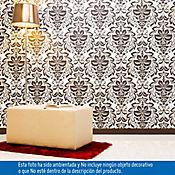 Papel Mural Neobarroco Blanco - Negro