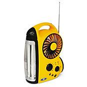 Lámpara recargable ventilador radio 2 x 6 watts
