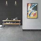 Guardaescoba Cerámico Sf Ébano 8x41 cm Negro