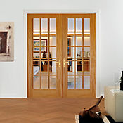 Puerta pino 15 vidrios 0,76 x 2,03 metros