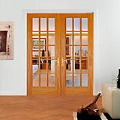 Puerta pino 15 vidrios 0,81 x 2,03 metros