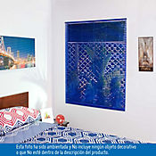 Persiana PVC 100x140 cm Vibra Azul Oscuro