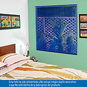 Persiana PVC 140x140 cm Vibra Azul Oscuro