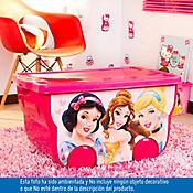 Caja plástica infatil con ruedas 55 litros Princess