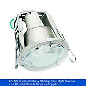 Bala Marti 1 Luz en Aluminio con Protector en Vidrio Rosca E27 60w Blanca