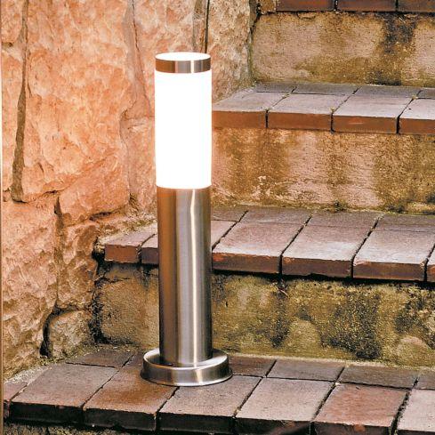 Lámpara pié jardín mediano acero 1 luz 20 w, Ikelite Design ...