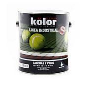 Pintura epóxica para canchas verde 1 galón