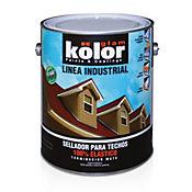 Pintura rojo techos  silicona 1 galón