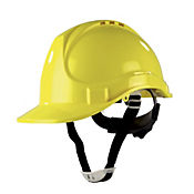 Casco Ajuste Ratchet Amarillo