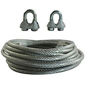 Cable acero plastificado 1/8 Pulg 5 metros+ perro 1/8 2 unidades