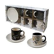 Set de Café en Cerámica de 6 Puestos