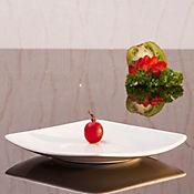 Plato té 16 cm cuadrado oslo blanco