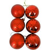 Set x12 Esfera 6cm Roja Diamante