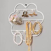 Organizador joyas rejilla blanco