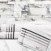 Toalla para manos jacquard lumina 50 x 80 cm blanca - negra
