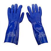 Guante PVC Azul Semicorrugado