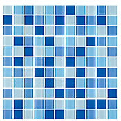Cristanac cristal confeti azul 29,4 x 29,4 cm unidad