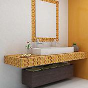 Cristanac Cerámico Cristal Confeti 29.4x29.4 cm Naranja