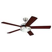 Ventilador Decorativo con Luz Comet 5 Aspas 132 cm Café