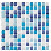 Cristanac venecita confeti azul 32.4 x 32.4 cm und
