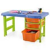 Escritorio plástico infantil verde naranja