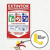 Senal Extintor 20-30lb Multiproposito 35x24cm