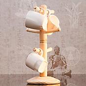 Porta mugs en madera