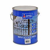 Esmalte blanco crudo triple acción 1 galón