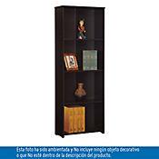 Biblioteca Zen Sin Puertas 162x60x25 cm Wengue
