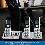 Telefono inalámbrico 6.0ghz identificador de llamada y contestador + 2 auriculares