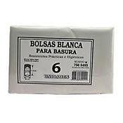 Bolsa Para Basura Blanca 90 x 10 cm 6 Unid
