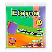Paño Multiusos Antibacterial Colores x 3 Und