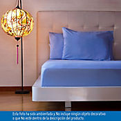 Juego de Cama Extradoble 180 Hilos en Algodón Azul