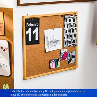 Cartelera corcho marco madera 60 x 80 cm, Artecma|Artículos de ...