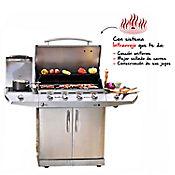 Asador a Gas Infrarrojo 4 Quemadores + Cocina Lateral
