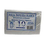 Bolsa Para Basura Blanca 40 x 50 cm 10 Und